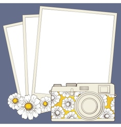 Vintage photo camera with vignette vector image