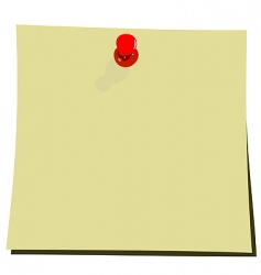 yellow note pad vector image vector image
