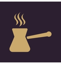 The turk icon coffee symbol flat vector