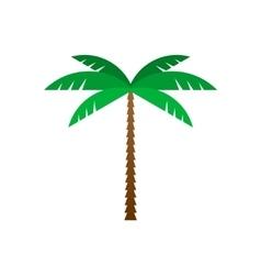 Palm tree flat geometric style vector