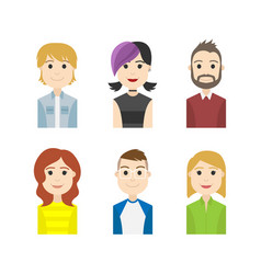 Simple people avatar business and carrier characte vector