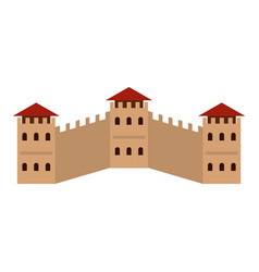 majestic great wall of china icon isolated vector image