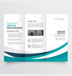 Creative business trifold brochure design template vector