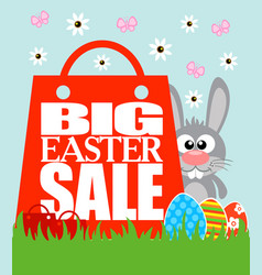 Best easter price card funny rabbit vector