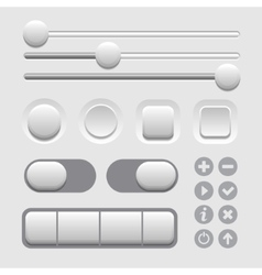 User interface elements set on light background vector