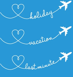 Holiday vacation flying set vector