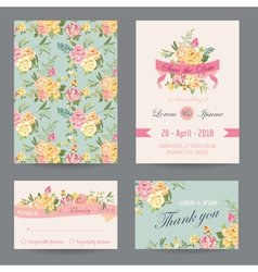 Invitation congratulation card set vector