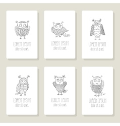 Set of cards invitation with hand drawn vector