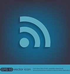 Rss symbol character news vector