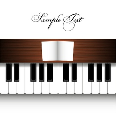Piano design vector