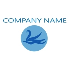 Logo swan for company vector