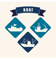 Boat icon design vector