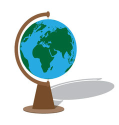 Globe with shadow vector