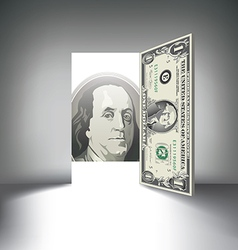 Money door one hundred vector