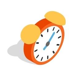 Alarm clock icon isometric 3d style vector