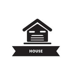Flat icon in black and white style building house vector
