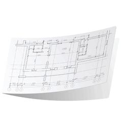 Architecture plan sticker 1 vector
