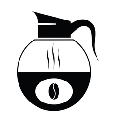 Black coffee icons vector
