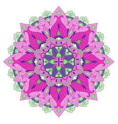Colorful floral mandala vector
