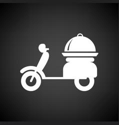 delivering motorcycle icon vector image