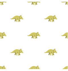 Dinosaur triceratops icon in cartoon style vector