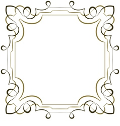 elegant square multilayer frame on white vector image vector image
