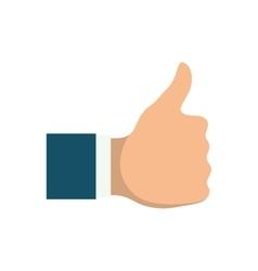 hand like thumb up vector image vector image
