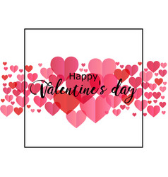 Happy valentines day romantic perfect for design vector