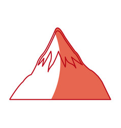 japanese mount fuji landmark natural ecology vector image