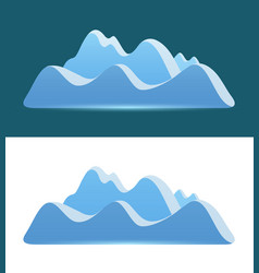 Logo of blue mountains vector
