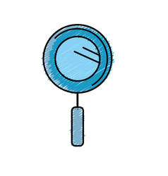 magnifying glass instrument to analyzing vector image vector image