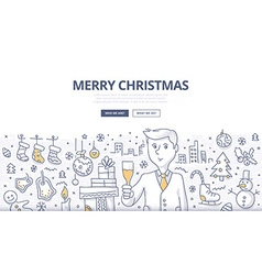 Merry Christmas Doodle Concept vector image vector image