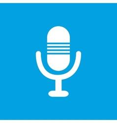 Microphone white icon vector