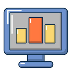 monitor icon cartoon style vector image