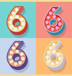 Number 6 vector