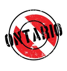 Ontario rubber stamp vector
