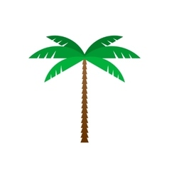 Palm tree flat geometric style vector