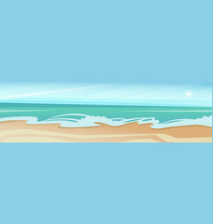 Sea shore sand beach summer vacation blue sky vector
