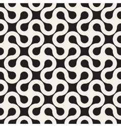 Seamless black and white rounded line vector