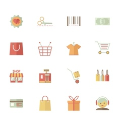 Set of supermarket services and shopping icons vector image vector image