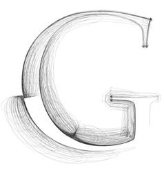 Sketch font letter g vector