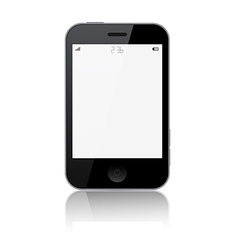 Smartphone Isolated on White Background vector image vector image