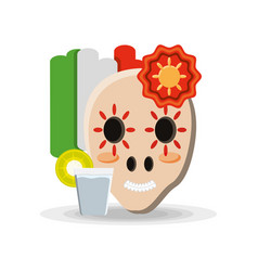 traditional mexican sugar skull vector image