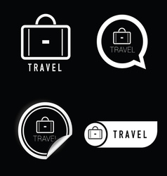 Travel icon black and white vector