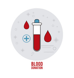 Tube cross blood donation icon graphic vector