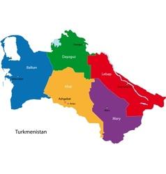 Turkmenistan map vector image vector image