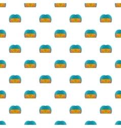 Indoor stadium pattern cartoon style vector