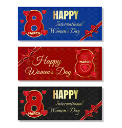 multicolored backgrounds for womens day happy vector image