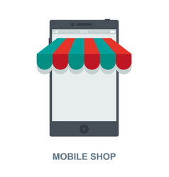 Mobile shop cencept design vector