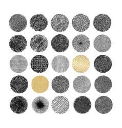 Hand drawn circle textures vector